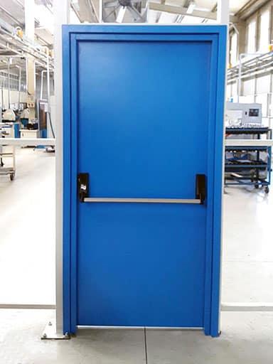Mavi Renkli Yangın Kapısı