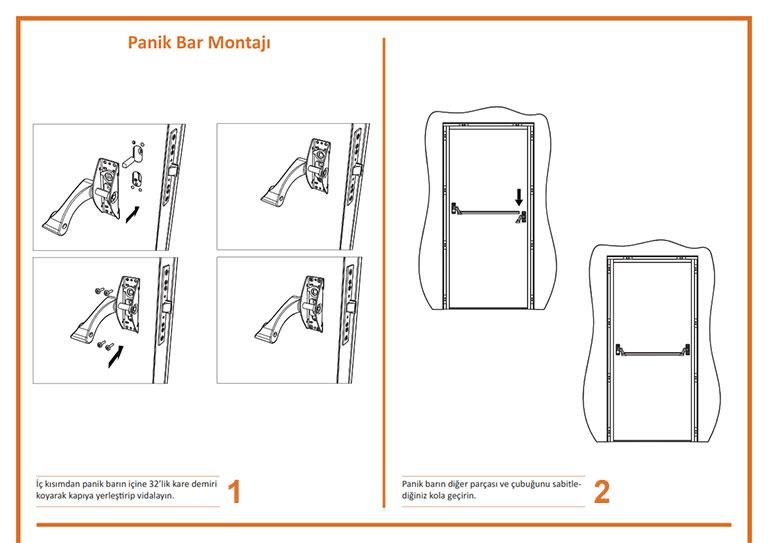 Yangın Kapısı Panik Bar Montajı