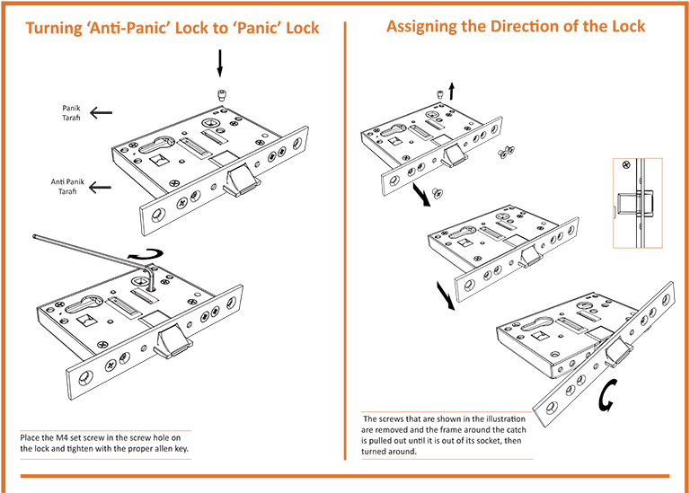 Assigning the Direction of Fire Door Lock
