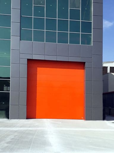 Red Industrial Door