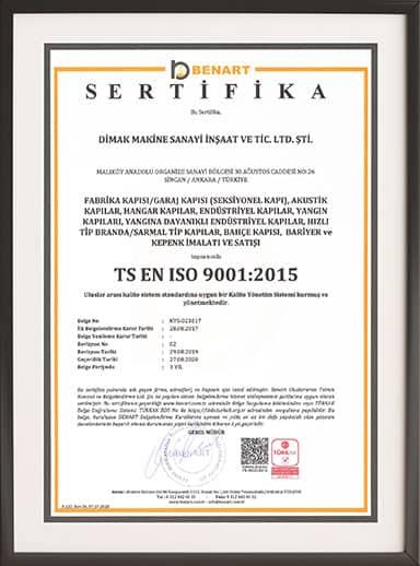 Dimak Door ISO 9001