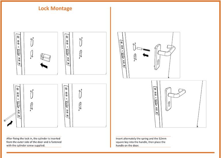 Fire Door Lock Montage
