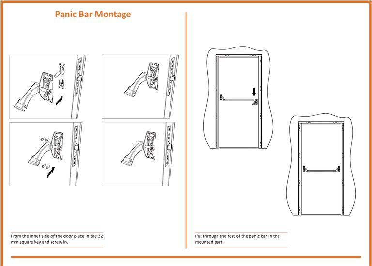Fire Door Panic Bar Montage