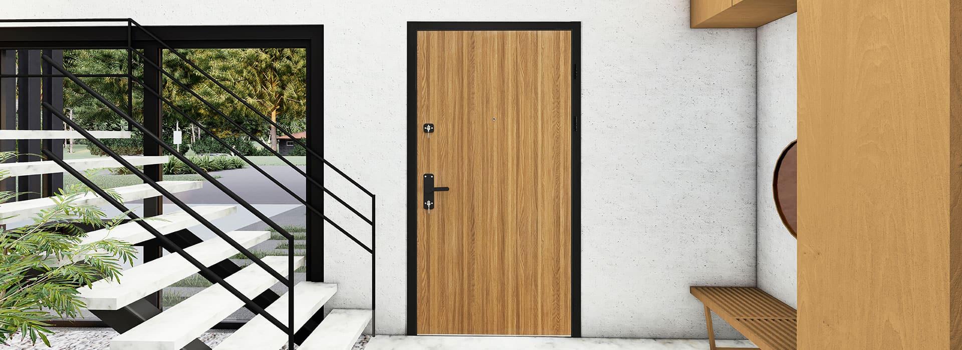 Steel Security Entrance Door Features